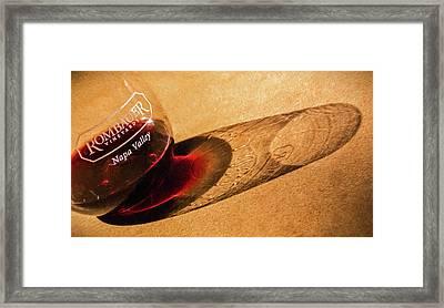 Wine Legs Of Napa Valley Framed Print