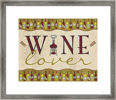 Wine Lover Framed Print by Shari Warren