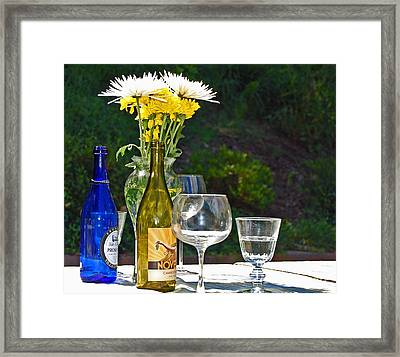 Wine Me Up Framed Print by Debbi Granruth