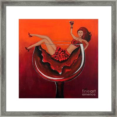 Wine Me Up Framed Print by Preethi Mathi