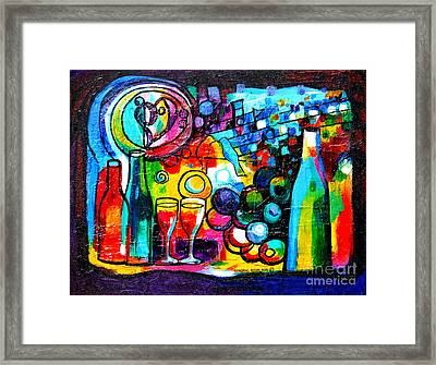 Wine Menagerie Framed Print