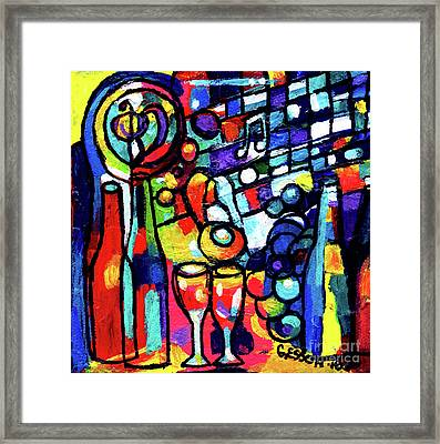 Wine Menagerie Small Framed Print