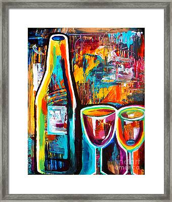 Wine Lovers Abstract Framed Print by Genevieve Esson