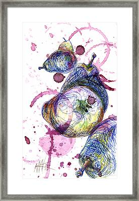 Wine Pearing Framed Print
