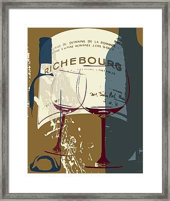 Wine Print #2 Framed Print