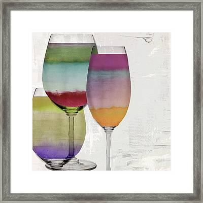 Wine Prism Framed Print by Mindy Sommers