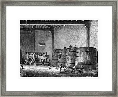 Wine Production, 19th Century Framed Print