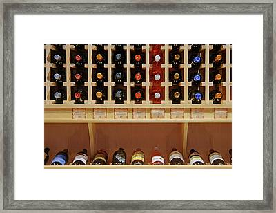 Framed Print featuring the photograph Wine Rack - 1 by Nikolyn McDonald