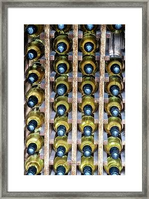 Wine Rack With Bottles Pa 04 Vertical Framed Print