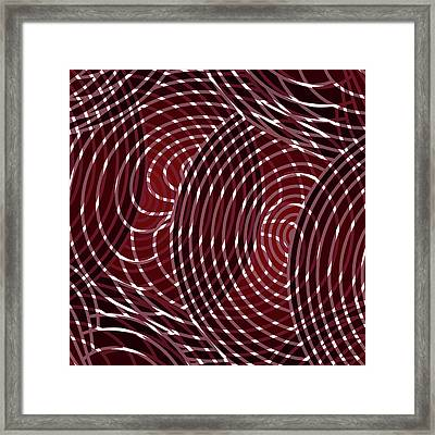 Wine Red Abstract Square Framed Print by Frank Tschakert