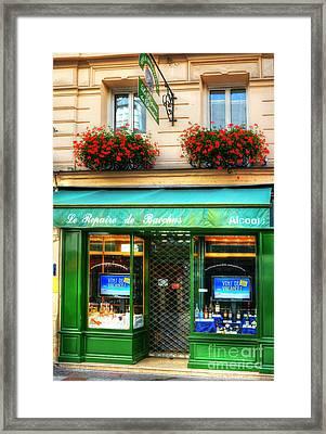 Wine Shop On Rue Cler Framed Print by Mel Steinhauer