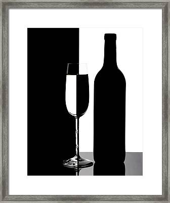 Wine Silhouette Framed Print by Tom Mc Nemar