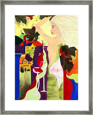 Wine Spirit Framed Print by Gwen Rose
