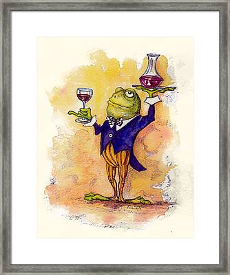 Wine Steward Toady Framed Print