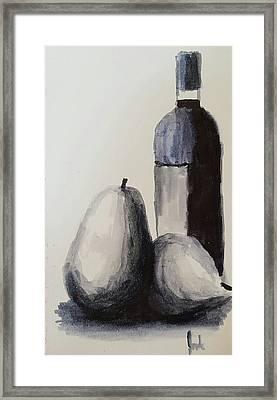 Wine Still Life Study Framed Print by Steve Jorde