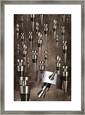 Wine Stopper Storm Framed Print