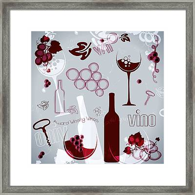 Wine Style Art Framed Print by Serena King