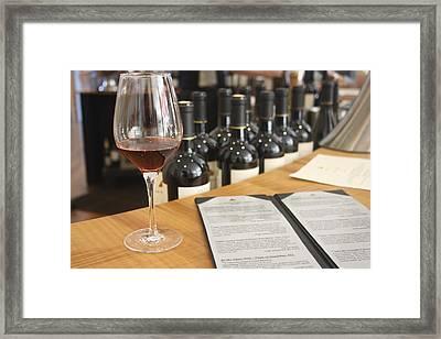 Wine Tasting At Artesia Winery Napa Valley Framed Print by Diane Leone