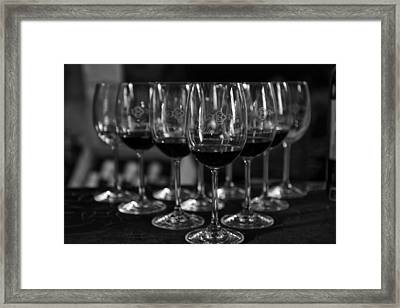 Wine Tasting At Chateau Coutet Framed Print by Georgia Fowler
