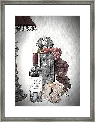 Framed Print featuring the photograph Wine Tasting Evening by Sherry Hallemeier