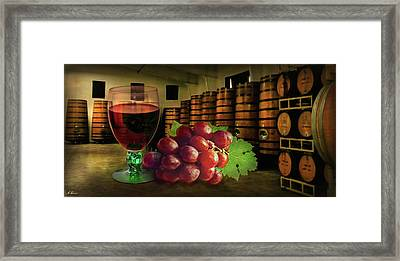 Framed Print featuring the photograph Wine Tasting by Hanny Heim