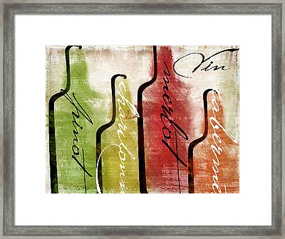 Wine Tasting I Framed Print by Mindy Sommers