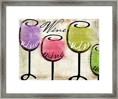 Wine Tasting IIi Framed Print by Mindy Sommers