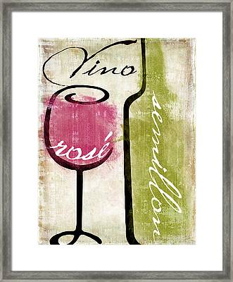Wine Tasting Iv Framed Print by Mindy Sommers