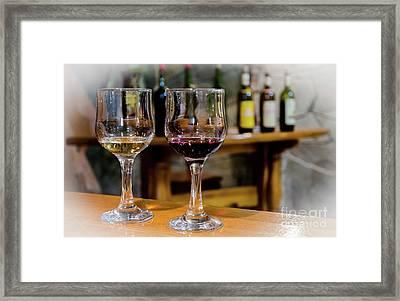 Wine Testing Framed Print by Nataly Raikhel
