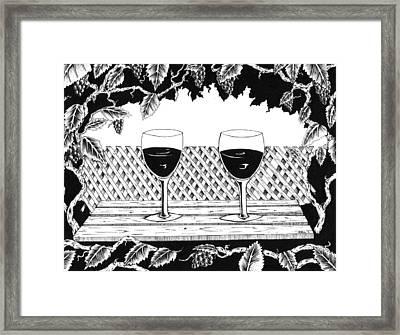 Wine Time Framed Print by Bob Veon