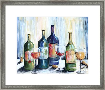 Wine Time Framed Print by Marilyn Dunlap