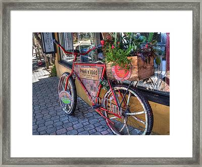 Wine Time Framed Print