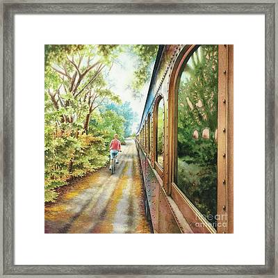 Wine Train Framed Print by Mara Mattia