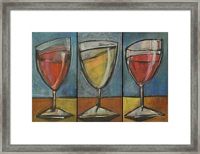 Wine Trio - Option One Framed Print by Tim Nyberg