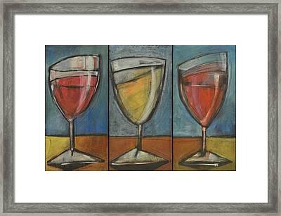 Wine Trio Option 2 Framed Print by Tim Nyberg