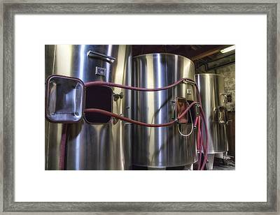 Wine Vats In Bordeaux Framed Print by Georgia Fowler