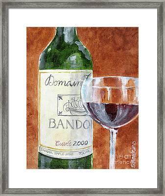 Wine With Dinner Framed Print