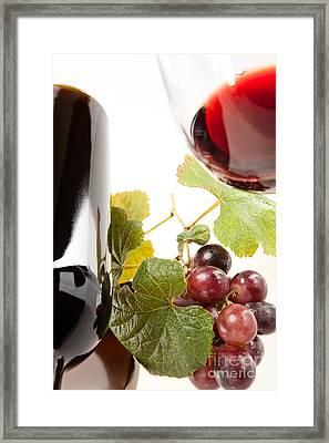 Wine Framed Print by Wolfgang Steiner