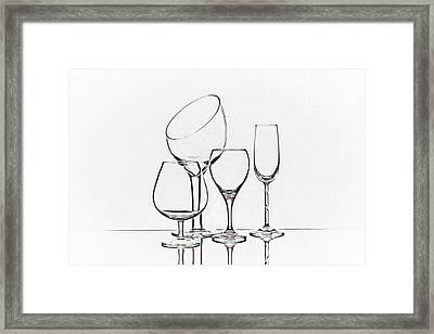 Wineglass Graphic Framed Print by Tom Mc Nemar