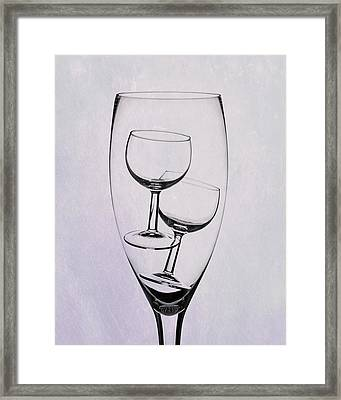 Wineglass Trio Framed Print by Tom Mc Nemar