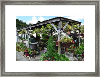 Winery Garden Gazebo Framed Print by Amy Lucid