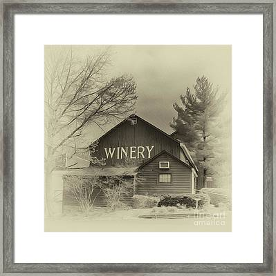Winery In Sepia Framed Print