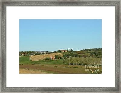 Winery In Tuscany Italy Framed Print by DejaVu Designs