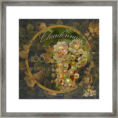 Wines Of France Chardonnay Framed Print by Mindy Sommers