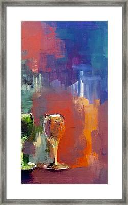 Winescape Reflections  Framed Print by Lisa Kaiser
