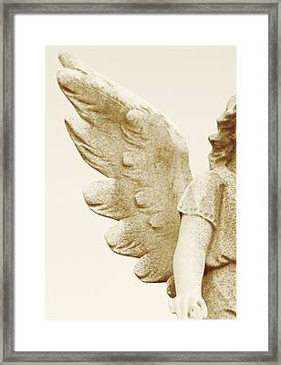 Wing And A Prayer Framed Print by Diana Angstadt