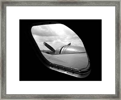 Wing And Window Framed Print by Dan Holm