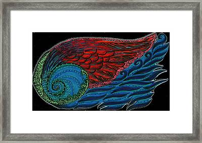 Wing In Wave Framed Print by Shany Diaz