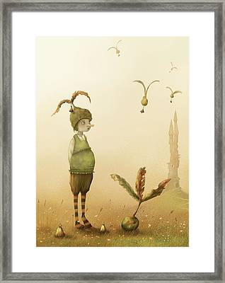 Wing-nut, Morning Bells Framed Print