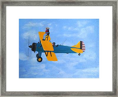 Wing Walker Framed Print